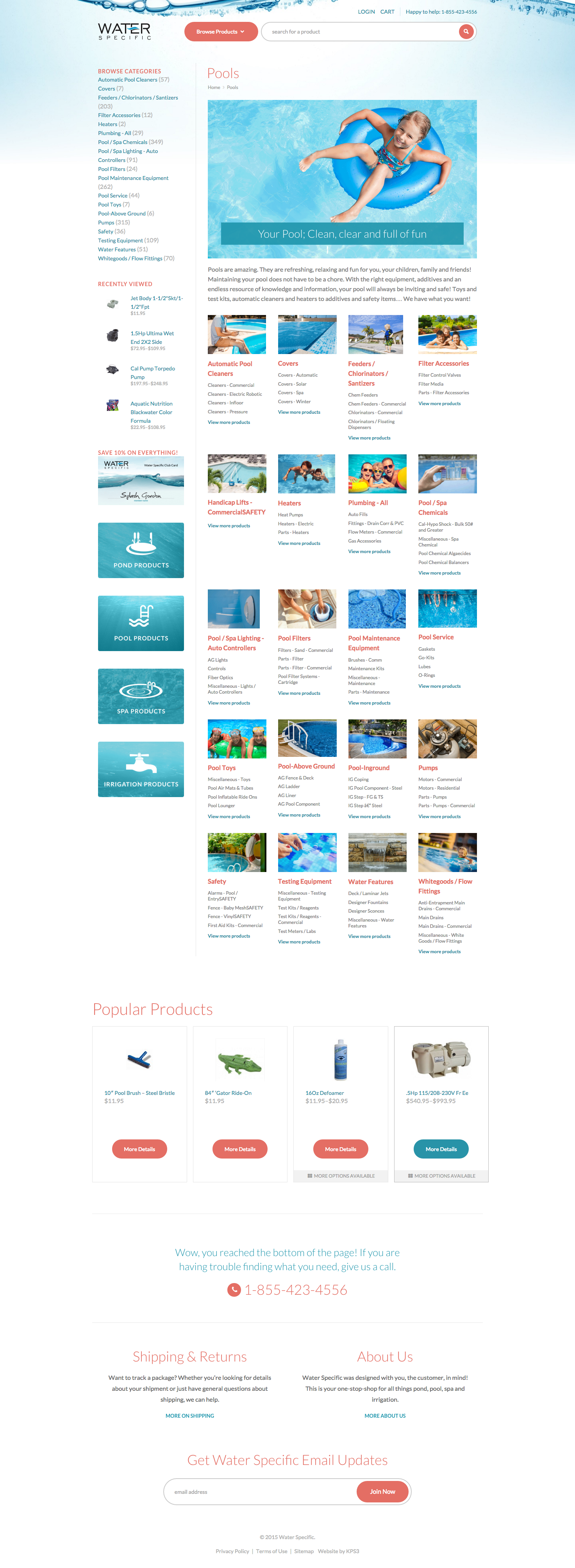 Buy Pool Products Online   Water Specific