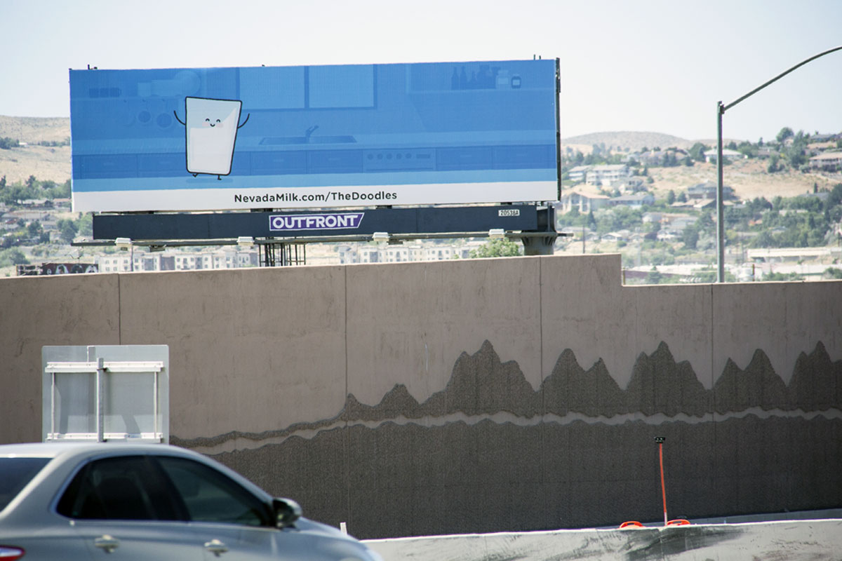 Meet the Doodles billboard, located on 395 North in Reno, Nevada by the Nevada Dairymen. Installation 2: Phil looks for love!