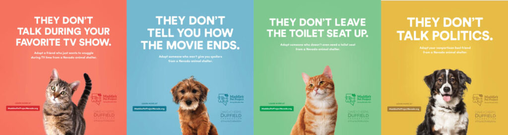 KPS3 ADDY's GOLD Award | Social Media, Campaign - Maddie's® Pet Project of Nevada Movie Stars