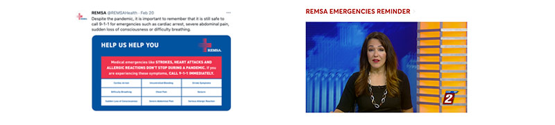 Twitter Post from REMSA